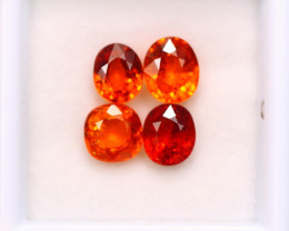 4.53ct Natural Orange Garnet Mix Cut Lot P328