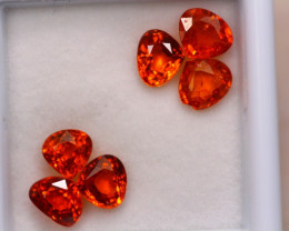 4.23ct Natural Orange Garnet Mix Cut Lot P330