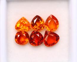 5.21ct Natural Orange Garnet Mix Cut Lot P331