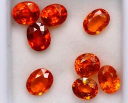 6.66ct Natural Orange Garnet Mix Cut Lot P332