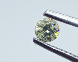 0.30ct  Fancy Light greenish Yellow Diamond , 100% Natural Untreated