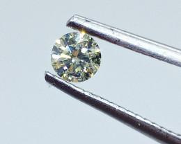 0.30ct Fancy greenish Yellow  Diamond , 100% Natural Untreated