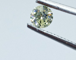 0.38ct Fancy Light Yellow  Diamond , 100% Natural Untreated