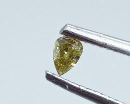 0.175ct Fancy Intense grayish Green   Diamond , 100% Natural Untreated