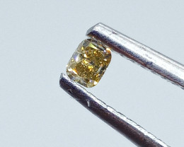 0.12ct Fancy Grayish Yellow  Diamond , 100% Natural Untreated