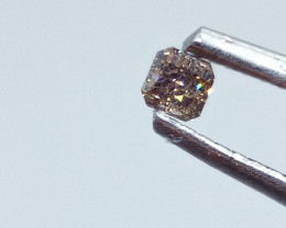 0.13ct Fancy Brownish Pink  Diamond , 100% Natural Untreated