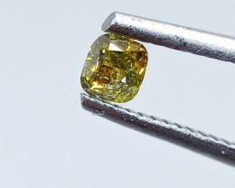 0.30ct  Fancy Intense orangish Green Diamond , 100% Natural Untreated