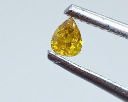 0.16ct  Fancy Intense Yellow Orange Diamond , 100% Natural Untreated