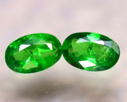 Tsavorite 0.83Ct 2Pcs Natural Vivid Green Color Tsavorite Garnet  E1501/B7
