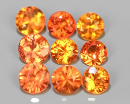 1.15 Cts~Excellent Natural Intense Beautiful orange Sapphire round Shape Pa