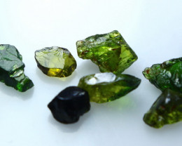 15.40 CTs Natural - Unheated Green Tourmaline Rough lot