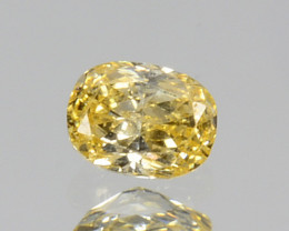 ~UNTREATED~ 0.06 Cts Natural Diamond Fancy Yellow Oval Cut Africa