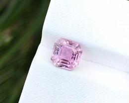 1.75 Ct Natural Pinkish Transparent Asscher Cut Tourmaline Gemstone