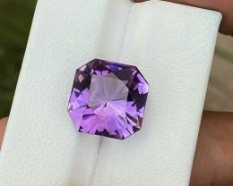 8.35 Ct Natural Purple Custom Cut Transparent Amethyst Gemstone
