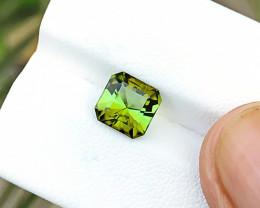2 Ct Natural Greenish Yellow Transparent Tourmaline Gemstone