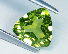 1.68 ct  Top Quality Gem  Triangle Cut Top Luster Natural Peridot