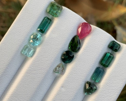 10 carats Mixed colour Tourmaline Gemstone From Afghanistan