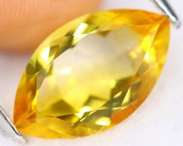 3.52cts Natural Vivid Yellow Marquise Cut Citrine /KL469