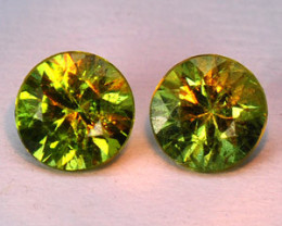 0.33 Cts Paired Untreated Color Changing Natural Demantoid Garnet Gemstone