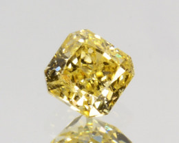 Ravishing!! 0.11Cts Natural Untreated Diamond Fancy Yellow Cushion Cut Afri