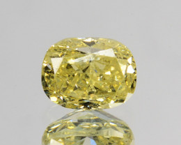 Beautiful!! 0.30 Cts Natural Untreated Diamond Fancy Yellow Cushion Cut Afr