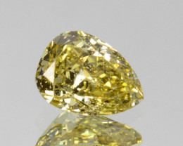 Splendid!! 0.25 Cts Natural Untreated Diamond Fancy Yellow Pear Cut Africa
