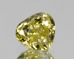Glorious!! 0.25 Cts Natural Untreated Diamond Fancy Yellow Heart Cut Africa
