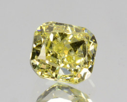0.18 Cts Natural Untreated Diamond Fancy Yellow Octagon Cut Africa