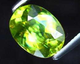 Sphene 1.38Ct Natural Rainbow Flash Green Sphene DF1628/B41