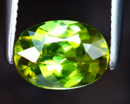 Sphene 1.10Ct Natural Rainbow Flash Green Sphene DF1629/B41