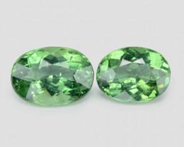 3.24 Cts 2 Pcs Un Heated Natural Green Apatite Loose Gemstone