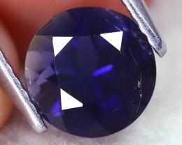 Iolite 1.12Ct Round Cut Natural Purplish Blue Color Iolite B1303