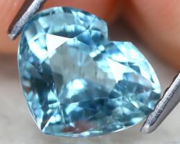 Aquamarine 1.88Ct VS2 Heart Cut Natural Blue Color Aquamarine B1309