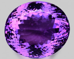 62.32 Cts Sparkling  Amethyst Brilliant Color and Cut ~ AT2