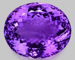 38.39 Cts Sparkling  Amethyst Brilliant Color and Cut ~ AT3