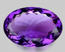 17.27 Cts Sparkling  Amethyst Brilliant Color and Cut ~ AT10