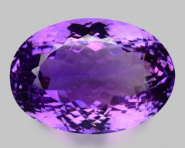 30.13 Cts Sparkling  Amethyst Brilliant Color and Cut ~ AT14