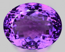 34.58 Cts Sparkling  Amethyst Brilliant Color and Cut ~ AT15