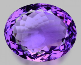 24.82 Cts Sparkling  Amethyst Brilliant Color and Cut ~ AT23