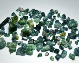 Amazing Natural indicolite color rough Tourmaline parcel 250Cts # N-9