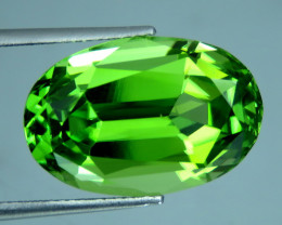 IF 8.15 Cts Beautiful Oval Cut Apple Green Natural Peridot From Pakistan