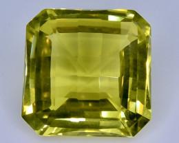 10.12 Crt Natural Lemon Quartz Faceted Gemstone.( AB 11)