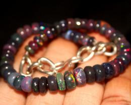 49 Crts Natural Ethiopian Welo Smoked Opal Beads Bracelet 288