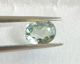 1.31ct unheated green sapphire