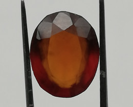 Hessonite, 4.06ct, this big African stone is a beauty!