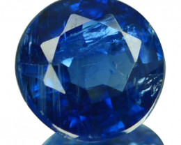 1.13 Cts Natural Royal Blue Kyanite 6.5mm Round Cut Nepal