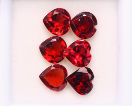 5.30ct Natural Rhodolite Garnet Heart Cut Lot Z592