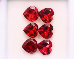 5.45ct Natural Rhodolite Garnet Heart Cut Lot Z593