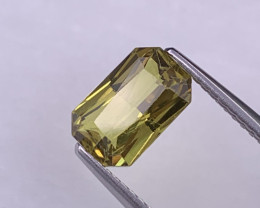 2.17 Cts Certified Top Quality Unheated/Untreated Greenish Yellow Sapphire