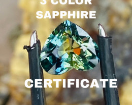 1.57CT- THREE COLOURS SAPPHIRE!- BEST QUALITY -BEAUTIFUL STONE